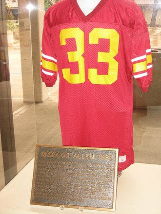 USC Trojans football - Marcus Allen's retired jersey
