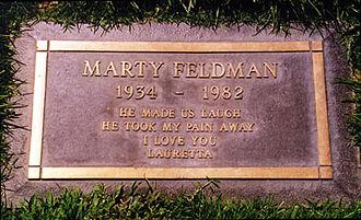 Marty Feldman - Feldman's gravestone in Forest Lawn Memorial Park