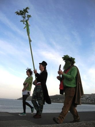 West Cornwall May Day celebrations - The May Horns procession in 2008 revival of the West Cornwall May Day Celebrations in Penzance