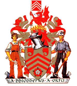 Pontypridd RFC - Image: Mid Glam arms