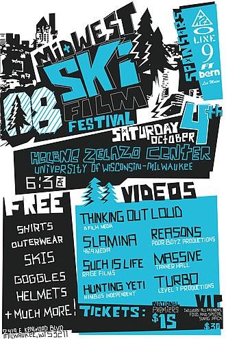 Midwest Ski Film Festival - 2008 MWSFF Poster
