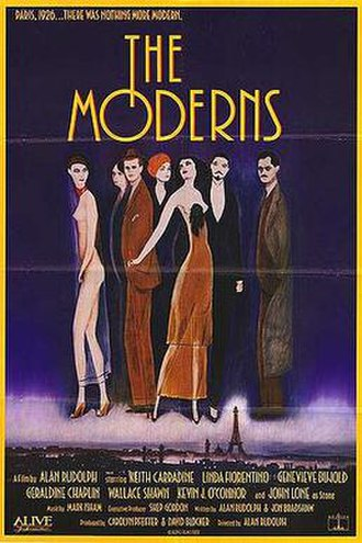 The Moderns - Theatrical release poster by Keith Carradine