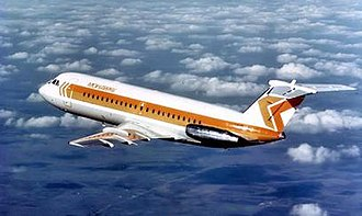 Mohawk Airlines - Postcard showing the 1970s BAC 1-11 livery