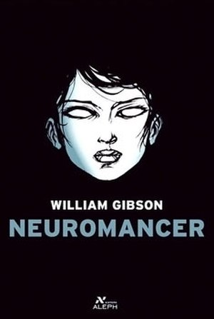 "Neuromancer - Cover of a Brazilian edition, depicting the character of ""razorgirl"" Molly Millions"