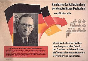 National Front (East Germany) - The Nationale Front election poster from 1950