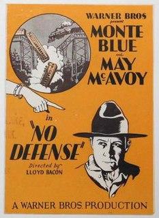<i>No Defense</i> 1929 film by Lloyd Bacon