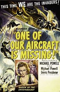 <i>One of Our Aircraft Is Missing</i> 1942 British war film