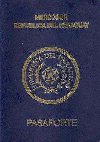 Paraguayan passport - Paraguayan passport front cover