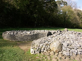 Parc le Breos - Parc Cwm long cairn forecourt – from the south east