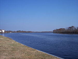 Pasquotank River - Pasquotank River from Mid-Atlantic Christian University campus