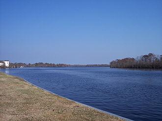 Pasquotank River - Pasquotank River from Mid-Atlantic Christian University campus