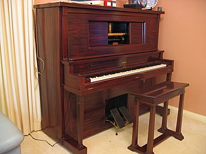 3AK - A restored pneumatic player piano of the type that could well have been used in 3AK's first studio.