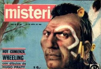 Fort Wheeling - Wheeling on the front page of Misterix no. 700 (1962)
