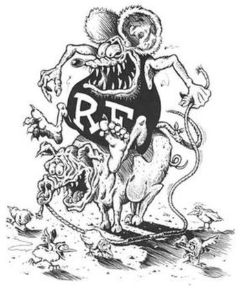 Rat Fink by Steve Fiorilla for an Ed Roth catalog cover