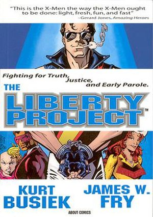 The Liberty Project - The Liberty Project trade paperback, artist James W. Fry and Andrew Pepoy.
