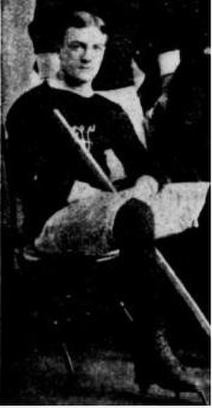 Robert MacDougall - Photo of MacDougall in the team picture of the Montreal Victorias in 1895