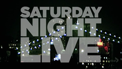 The title card for the thirty-third season of Saturday Night Live.