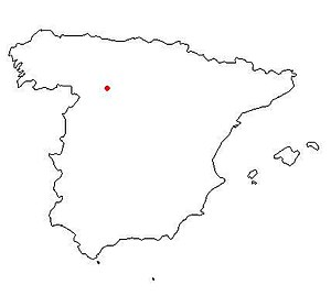 Battle of Golpejera - Location of the Battle was 9 miles south of the historic settlement of Santa Maria de Carrion, now Carrion de los Condes on the Carrion River