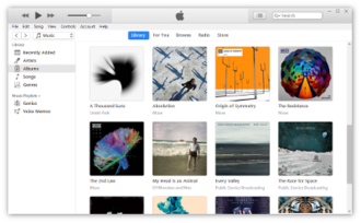ITunes - Image: Screenshot of i Tunes