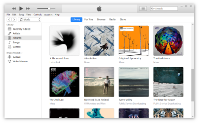 Screenshot of iTunes 12.7.1 on Windows 10