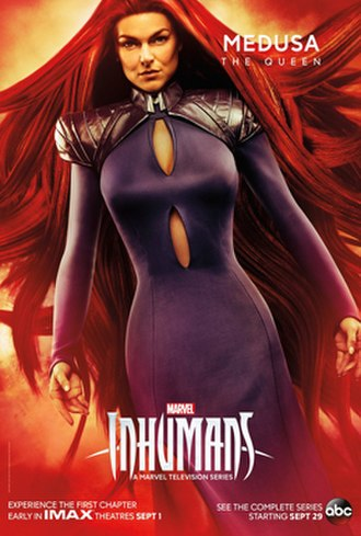 Medusa (comics) - Character poster of Serinda Swan as Medusa for the television series, Inhumans.
