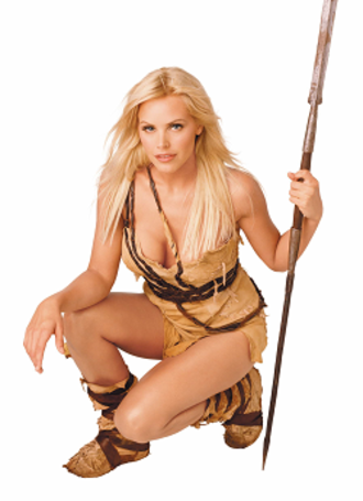 Sheena, Queen of the Jungle - Gena Lee Nolin as Sheena in the publicity still of the syndicated television series Sheena (2000-2002).