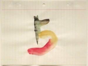 Richard Tuttle - Sheet from 5 Loose Leaf Notebook Drawings by Richard Tuttle, Honolulu Museum of Art