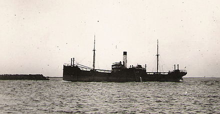 "Typical ""sixty-miler"" enters the harbour in ballast for a load of coal, 1923. Sixty-miler.jpg"