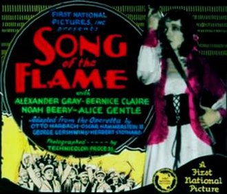 Song of the Flame - Lantern slide for the film.