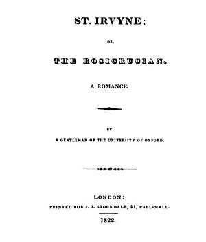 St. Irvyne - 1822 republication title page.