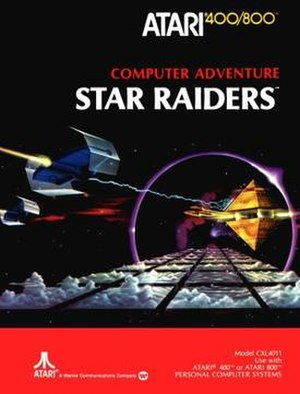 Star Raiders - Star Raiders cover art (Atari 8-bit)