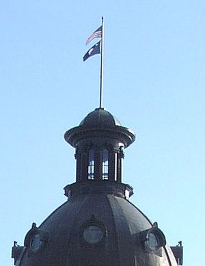 Glenn F. McConnell - Image: State and US Flags Atop SC Dome 2008