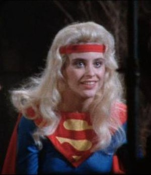 Supergirl (film) - Prototype costume based on the actual 1984 comic book costume at the time, used only for camera test shoots and lighting.