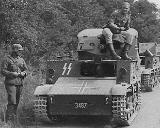 T-13 tank destroyer - Confiscated Waffen-SS T-13 B3 somewhere in Belgium or northern France