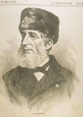 Thomas Storrow Brown - Thomas Storrow Brown in L'opinion publique, Vol. 4, no. 21, p. 245 (21 May 1873)