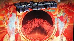 TX-Sector - Image: TX Sector Pinball Backglass