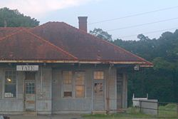Tate Georgia historic railway depot