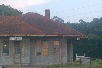 Tate, Georgia - Tate Georgia historic railway depot