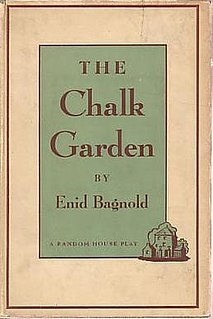 <i>The Chalk Garden</i> 1955 play written by Enid Bagnold