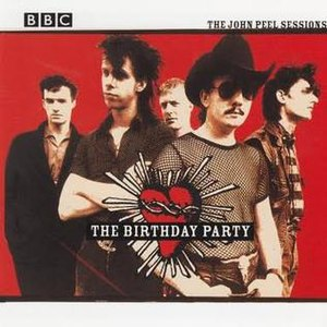 The Birthday Party (band) - Photograph circa 1982, from left: Harvey, Cave, Calvert, Pew, Howard (cover image of John Peel Sessions CD, 2001)
