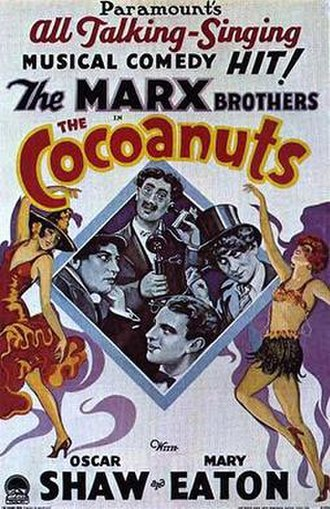 The Cocoanuts - Theatrical release poster