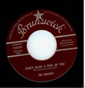 Love's Made a Fool of You - Image: The Crickets Love's Made a Fool of You 1959