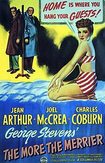 <i>The More the Merrier</i> 1943 film by George Stevens