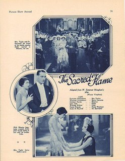 <i>The Sacred Flame</i> (1929 film) 1929 film by Archie Mayo