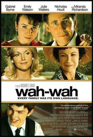 Wah-Wah (film) - Theatrical release poster
