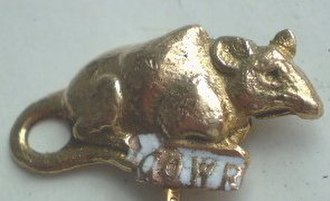 Grand Order of Water Rats - The gold Water Rat emblem worn by members