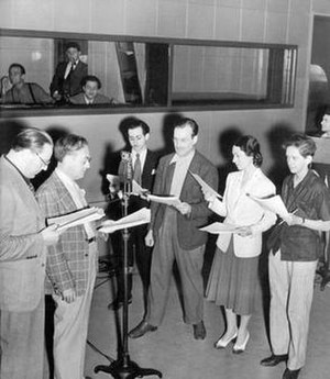 The Mercury Theatre on the Air - The company rehearses Treasure Island, the second program in The Mercury Theatre on the Air series, presented July 18, 1938.