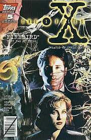 Topps Comics The X-Files #5 (May 1995), cover art by Miriam Kim.