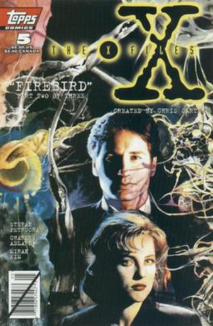 Topps - Topps Comics The X-Files No. 5 (May 1995), cover art by Miriam Kim.