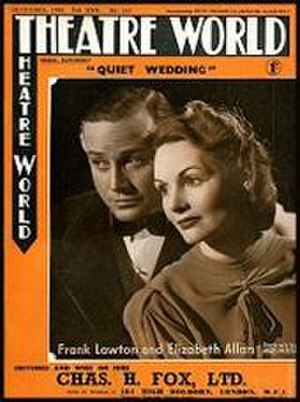 Quiet Wedding (play) - Frank Lawton and Elizabeth Allan in the original London production